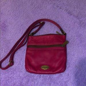 fuschia fossil purse perfect condition